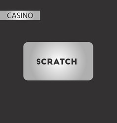 Black and white style scratch card vector