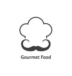 black gourmet food logo vector image