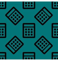 Calculator web icon flat design seamless pattern vector