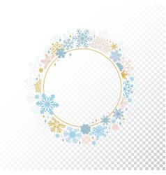 circle snowflake frame christmas design vector image vector image