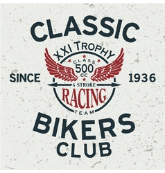 Classic bikers club vector