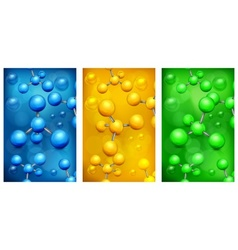 Color molecules background vector