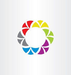 colorful abstract logo business circle symbol tech vector image