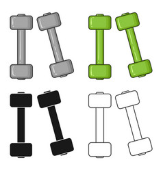dumbbells icon in cartoon style isolated on white vector image vector image