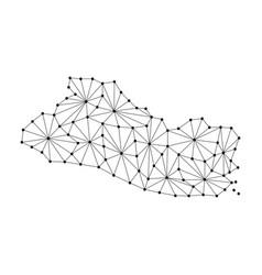 el salvador map of polygonal mosaic lines network vector image vector image
