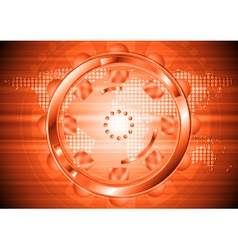 Elegant technology backdrop vector image vector image