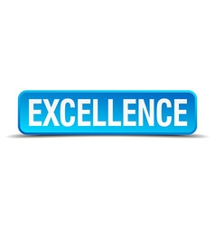 excellence blue 3d realistic square isolated vector image vector image
