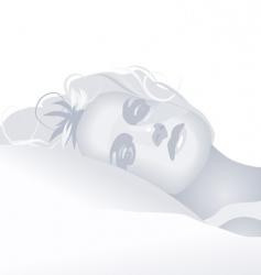 greylady vector image vector image