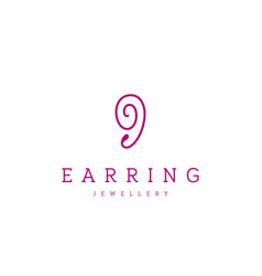 Jewellery company logo jewelry icon vector