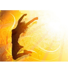 Jumping Girl Background vector image