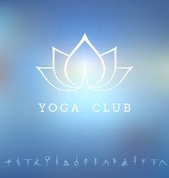 Logo for a yoga studio vector image vector image