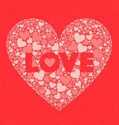 Love valentines day card vector