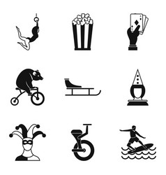 Pageant icons set simple style vector