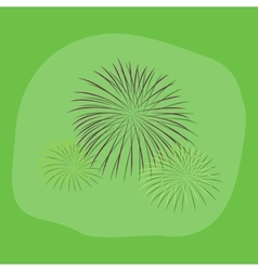 paper sticker on stylish background firework vector image vector image