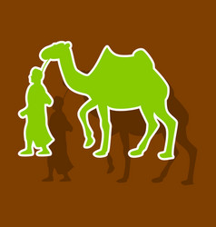 Paper sticker on theme arabic business bedouin vector