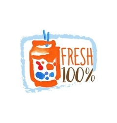 Percent fresh smoothie promo sign vector