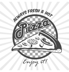 Pizza slice advertising poster vector