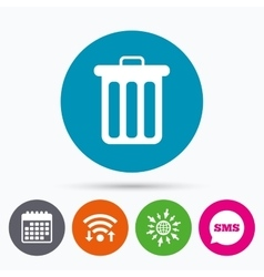 Recycle bin sign icon Bin symbol vector image