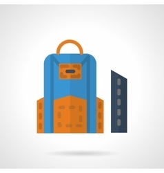 School bag and pencil box flat color icon vector image vector image