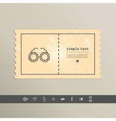 Simple stylish glasses pixel icon design vector