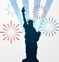 Statue of liberty shullouette vector