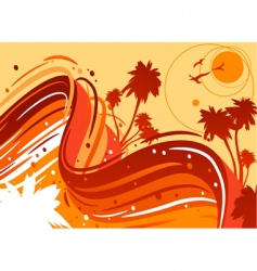 tropical sun vector image