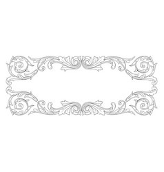 Vintage baroque ornament element vector