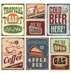 Vintage style signs vector image vector image