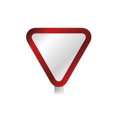 yield and stop sign blank vector image vector image