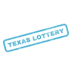 Texas lottery rubber stamp vector