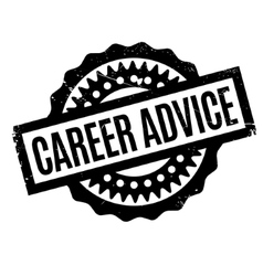 Career advice rubber stamp vector
