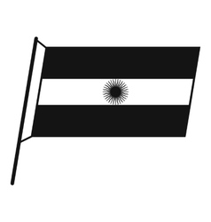 Flag of argentina icon simple style vector