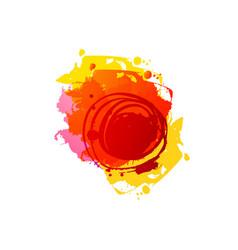 Grunge summer red spot vector