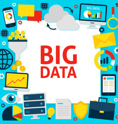 Big data paper template vector
