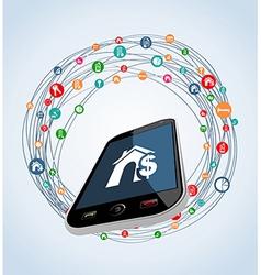 Real estate smart phone concept vector