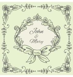 Wedding Wreath Sketch vector image