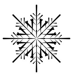 snowflake silhouette vector image