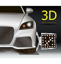 3D wheel alignment vector image