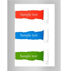 Tags with ripped papers vector
