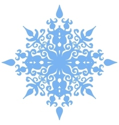 Various isolated winter snowflake vector