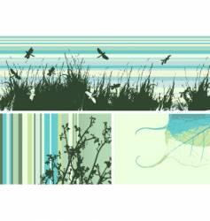 Grunge frame nature vector