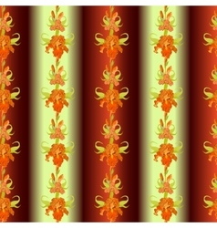Floral stripped seamless pattern red iris flower vector