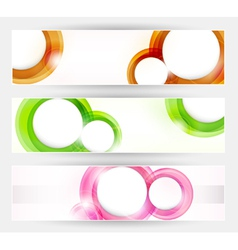Set of abstract modern banner vector