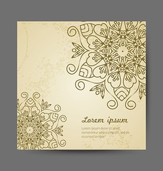 Card with mandala vector