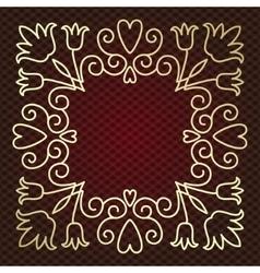 mono line frame vector image