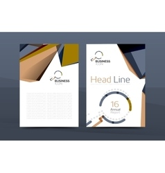 A4 front page business identity vector