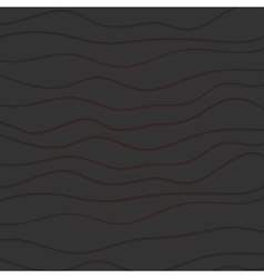Abstract black waves pattern with red lines vector image