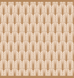 Art deco gold line geometric style pattern vector