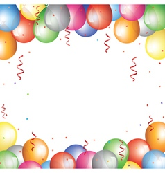 Balloon border vector