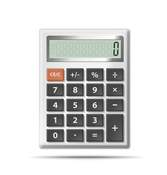 calculator isolated on white background vector image vector image